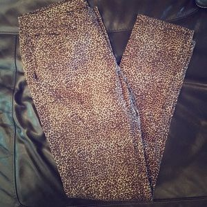 Animal Print Jeans size 10